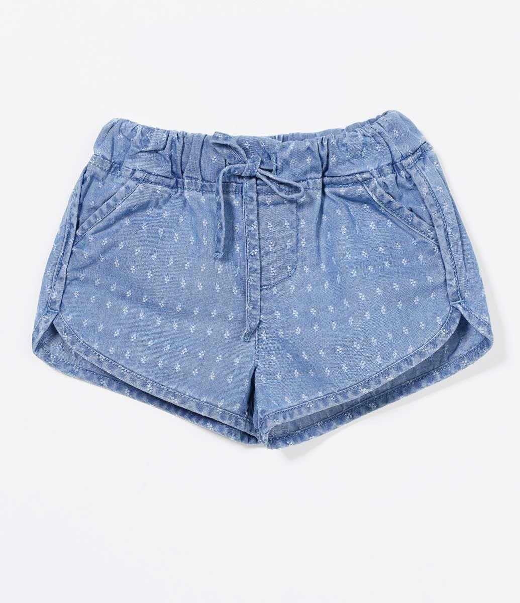 c80a78b45969 Short Infantil Estampado Com amarração na cintura Marca: Teddy Boom Tecido:  jeans Veja outras opções de shorts e bermudas infantis.