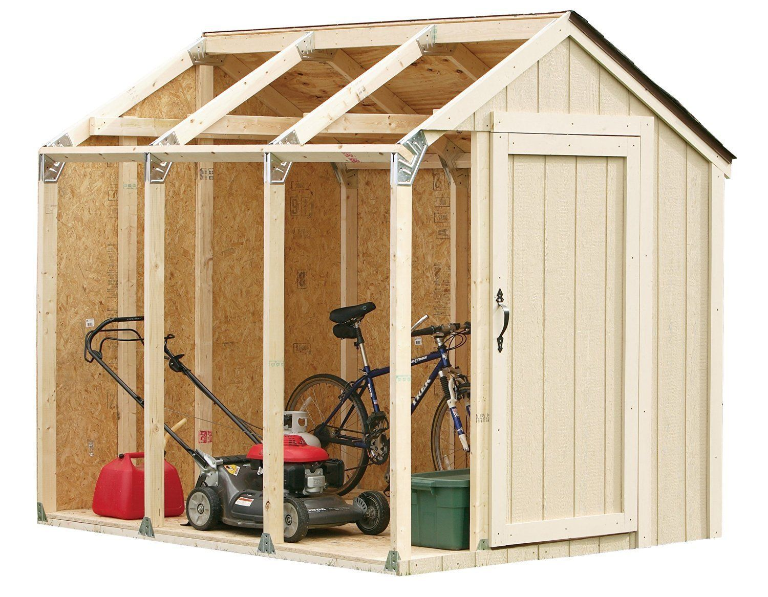 Amazon.com : Hopkins 90192 2x4basics Shed Kit, Peak Style Roof : Storage  Sheds