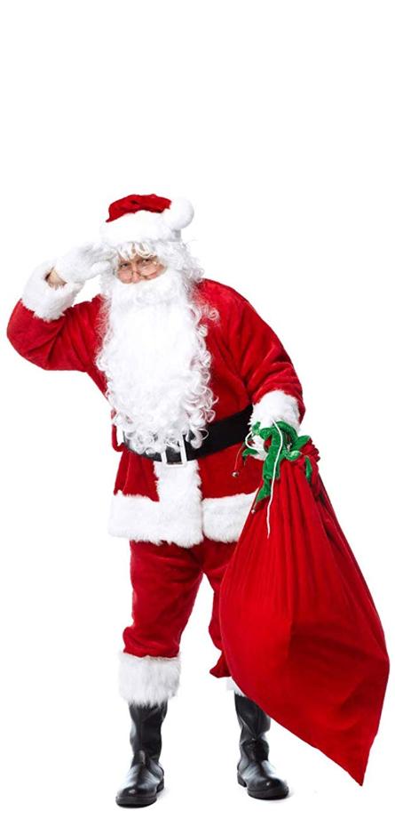 Christmas Santa Claus Costume Set Men S Deluxe Santa Suit Santa Claus Costume Santa Suits Santa Clause Dress