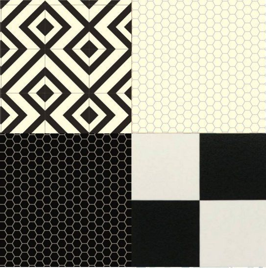 Cushion Floor Vinyl Black White Design Sheet Lino Kitchen Bathroom ...