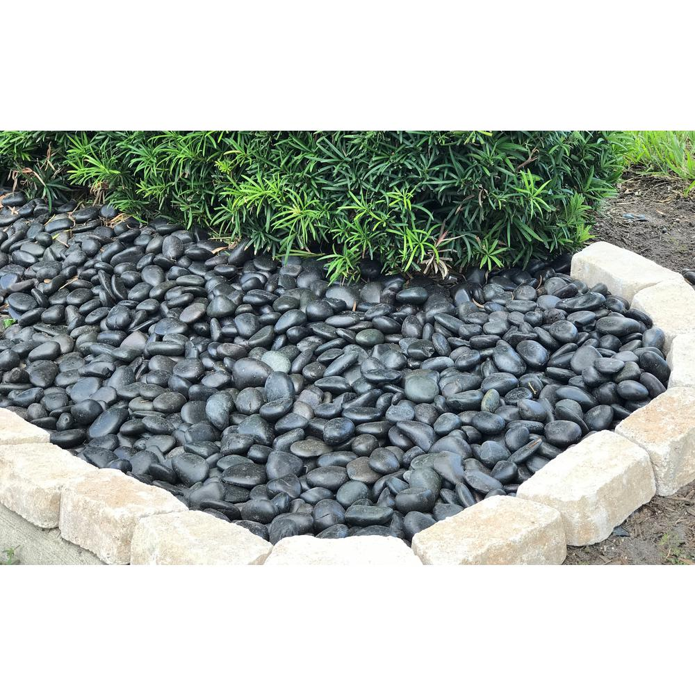 Rain Forest 0 40 Cu Ft 2 In To 3 In 30 Lbs Large Black Grade A Polished Pebbles Rfbrpa3 30 The In 2020 Pebble Landscaping Japanese Garden Landscaping With Rocks