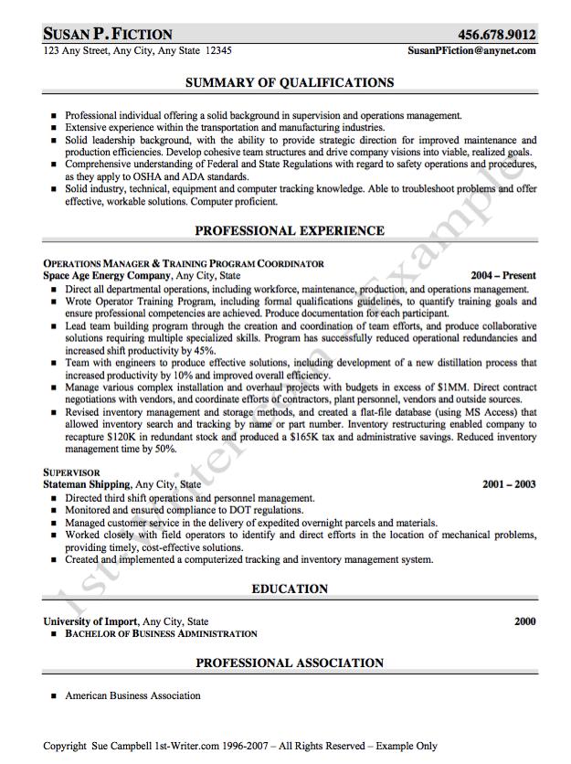 Sample resume Training Program Coordiantor - http://resumesdesign ...