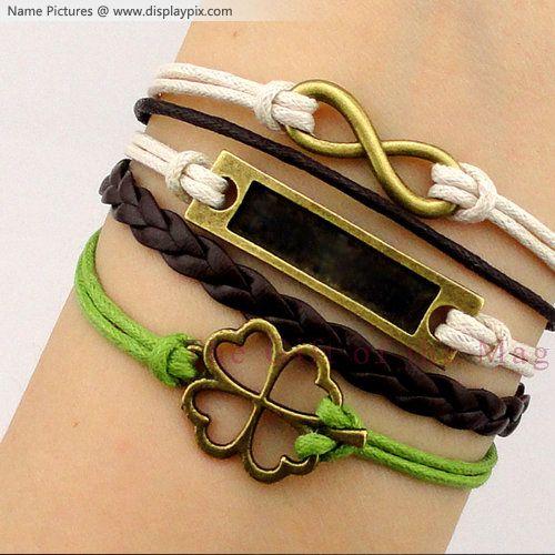 Design Your Own Names On Golden Charm Bracelets Hand