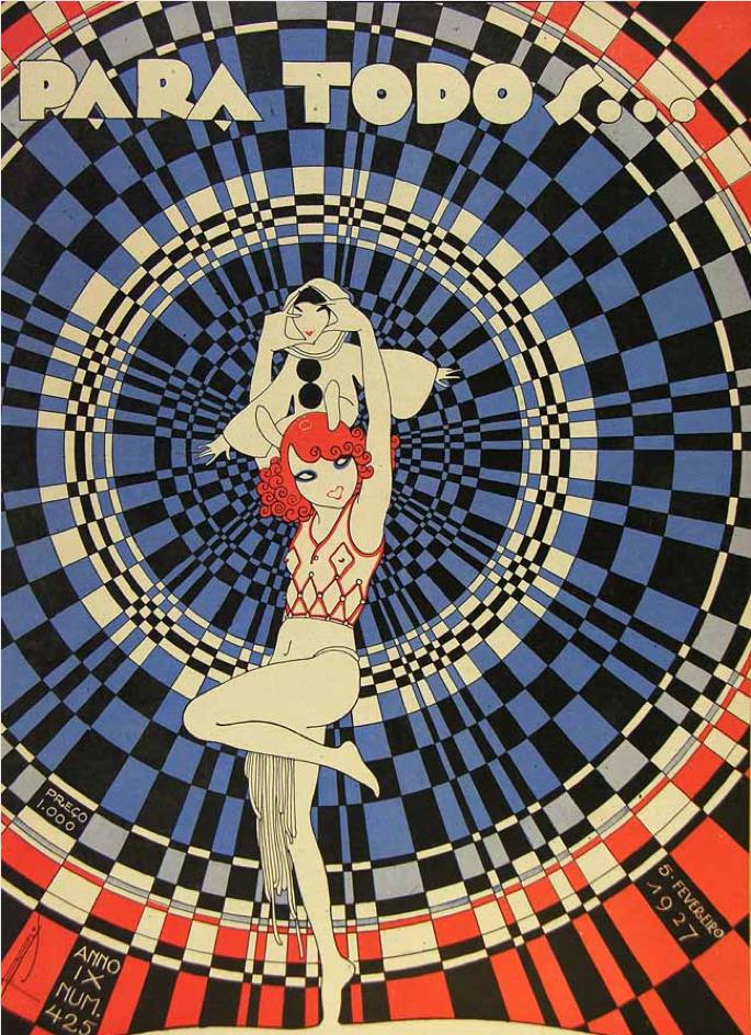 Ielle-Illustration cover by José Carlos (1884-1950), Feb. 5, 1927, Para Todos…, # 425, Brazil.