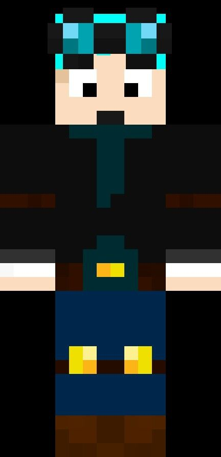 New Virsion Of Dantdm He Now Has Blue Hair Kai Minecraft Cubs