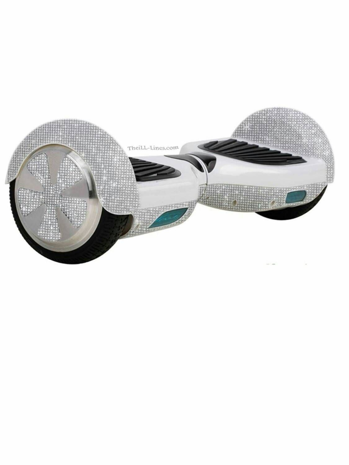 Custom Segway Crystal Segway Bedazzled Segway White Hover Board