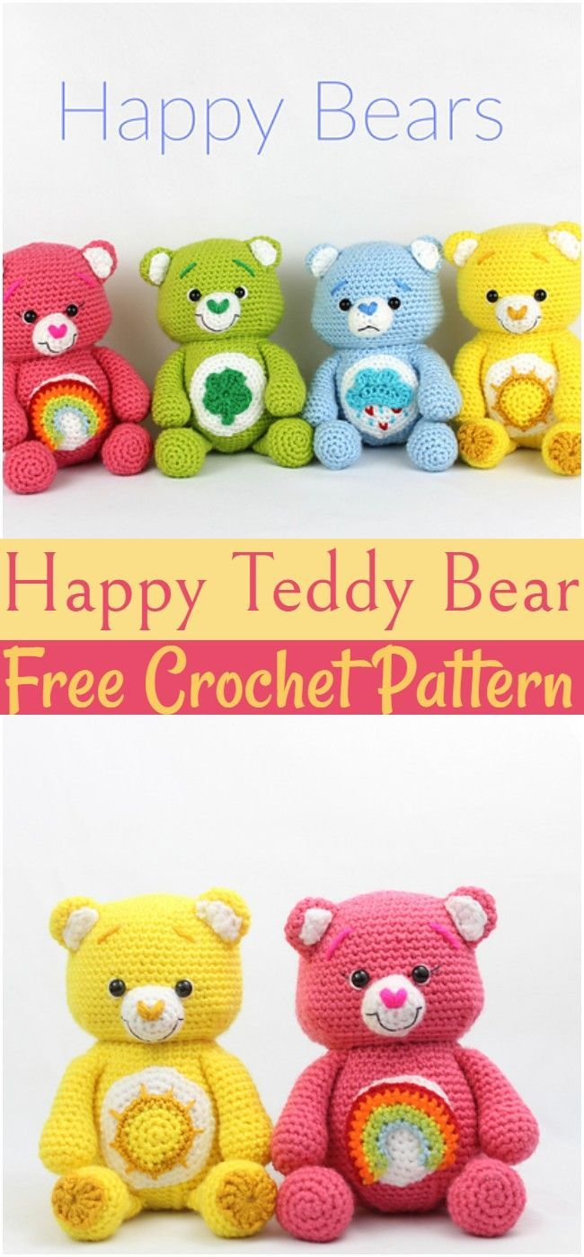 Crochet Happy Teddy Bear Pattern #crochetteddybearpatternfree #crochetteddybearpatternfreeeasy #crochetteddybearpattern #crochetteddybearblanket #crochetteddybear #teddybear Crochet Happy Teddy Bear Pattern #crochetteddybearpatternfree #crochetteddybearpatternfreeeasy #crochetteddybearpattern #crochetteddybearblanket #crochetteddybear #teddybearpatterns