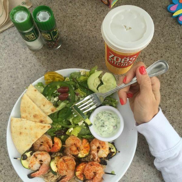 Shrimp kabobs via Zoe\'s Kitchen | HWH // FITNESS | Pinterest