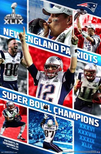 New England Patriots Super Bowl Xlix Celebration Poster Tom Brady Gronk Edelman New England Patriots Super Bowl Xlix Super Bowl