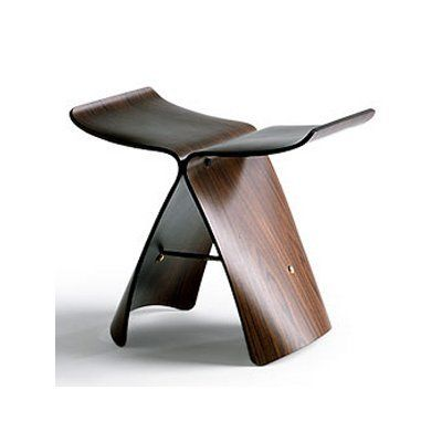 Sori Yanagi Butterfly Style Stool Mobilier Chaise Objets