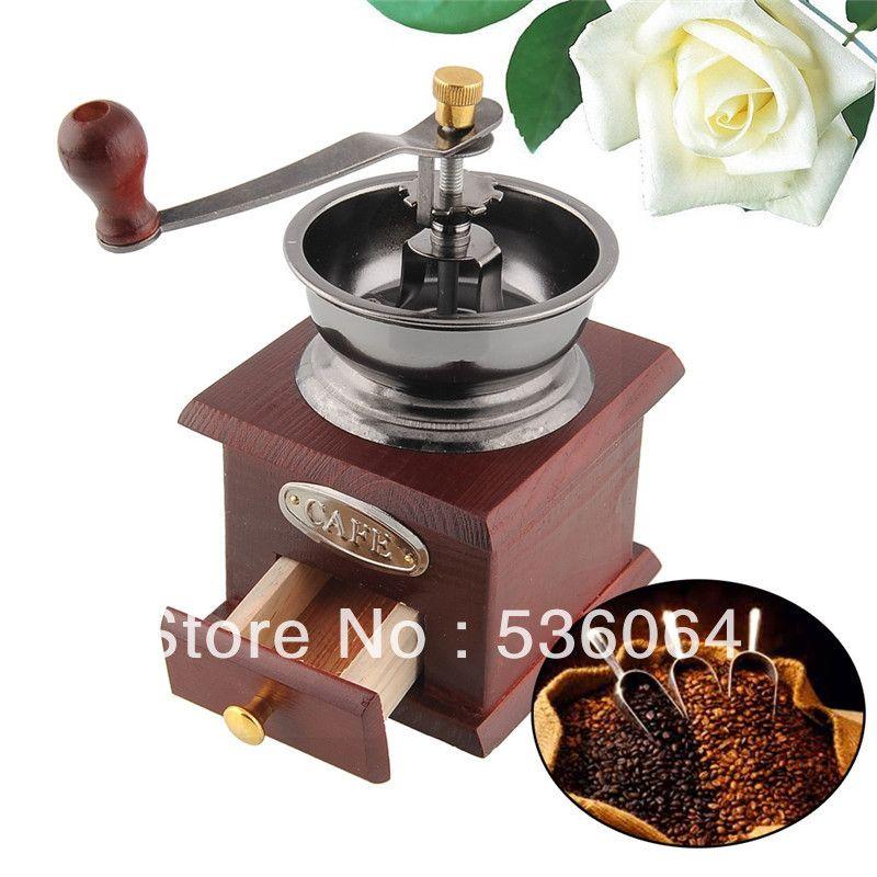 Qualidade Vantage Mini Mão Manual de Operação casa Coffee Bean Grinder moinho gaveta Frete Grátis em Moedores de café de Ferramentas para ca...
