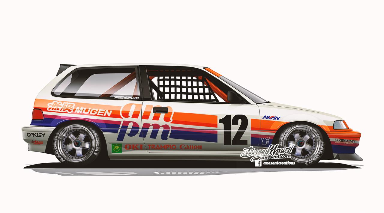 Tumblr Racing Car Design Honda Civic Hatchback Art Cars