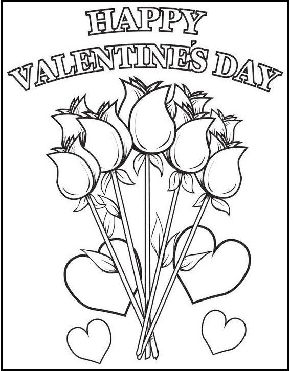 happy valentine u0026 39 s day coloring sheets  with images