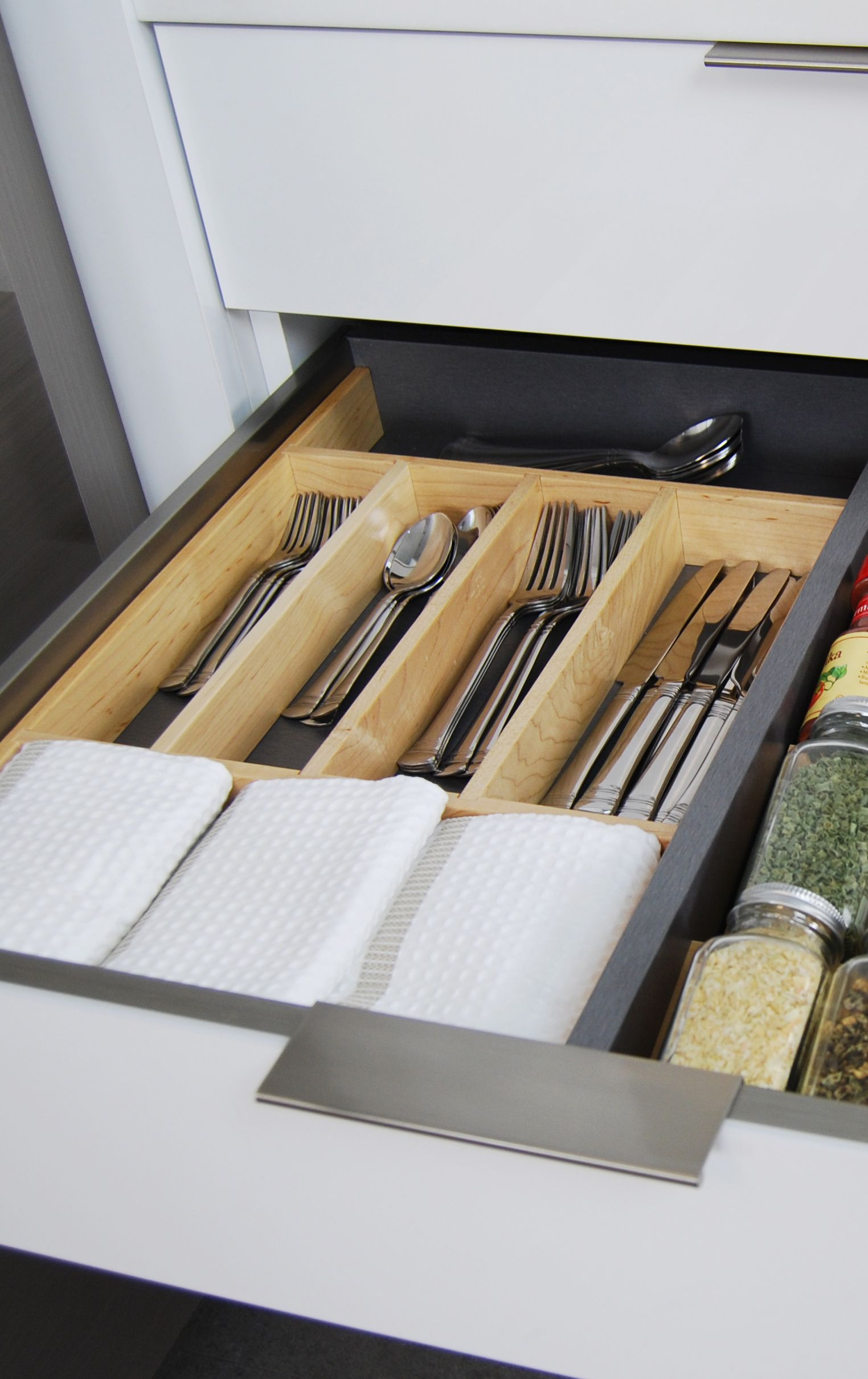 Wood Drawer Dividers And Inserts Like A Wooden Spice Rack