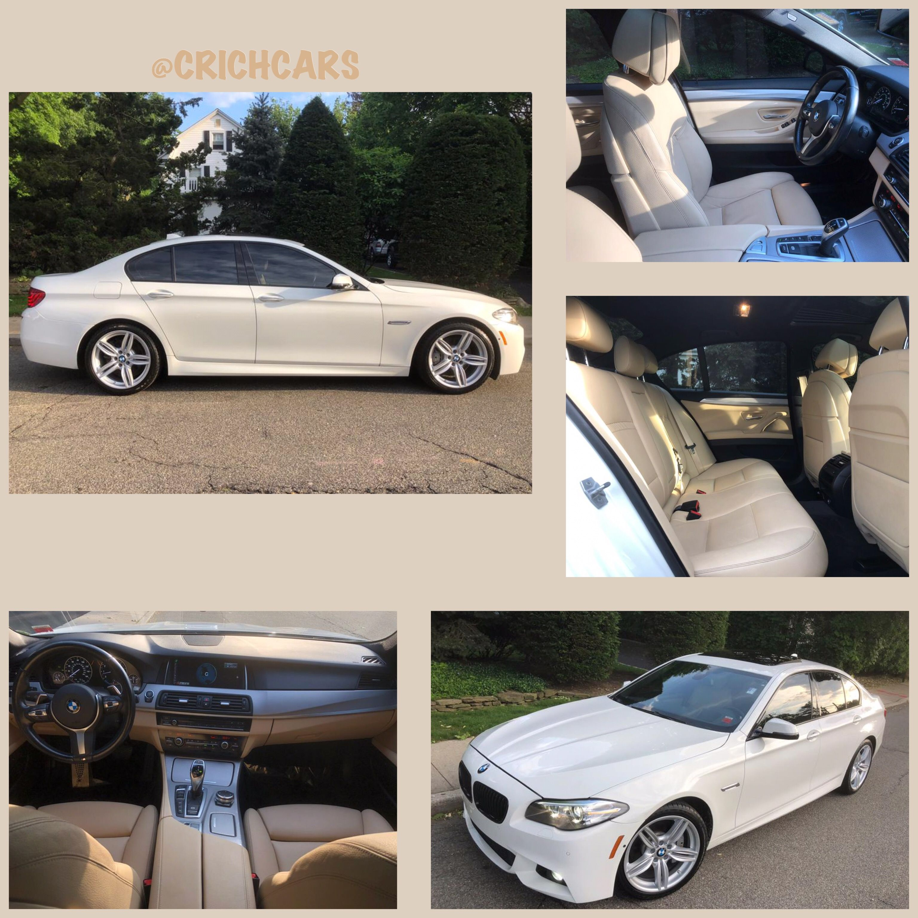 2016 Bmw 5 Series 4dr Sdn 535i Xdrive Awd 38k Miles Only 329 A