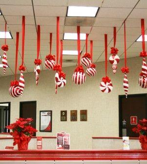 Estilo decoracion de la oficina en navidad navidad - Como hacer decoracion navidena para el hogar ...