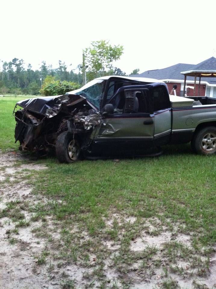 The 1998 Dodge Ram 1500 After The Wreck Monster Trucks My Ride Car Crash