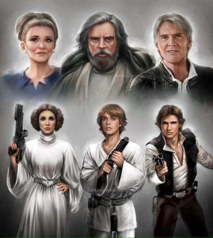 Princess Leia,Luke Skywalker & Han Solo - Star Wars
