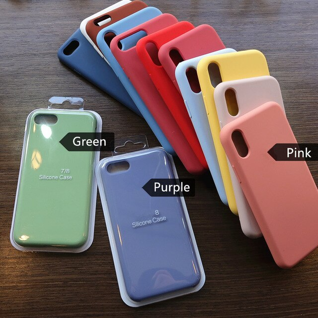 Silicone Logo Case For Apple Iphone 6 6s 7 8 Plus Na01 Easily Shop In 2020 Silicone Phone Case Apple Iphone Iphone