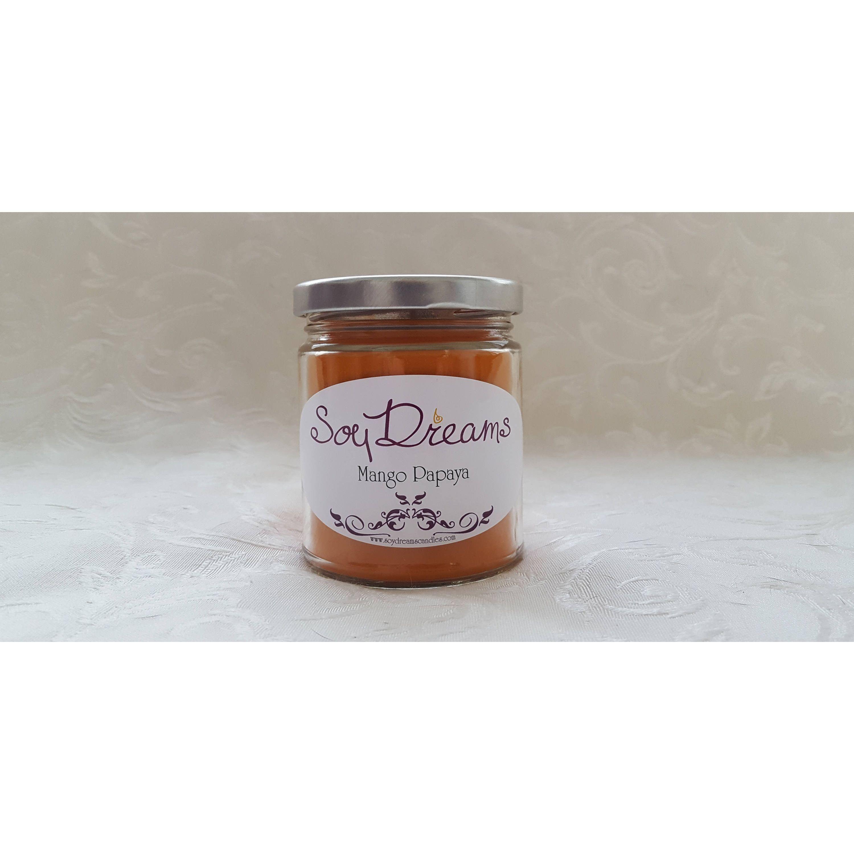 Mango Papaya Candle - Soy Candle - 8oz Candle Jar   Candle jars and ...