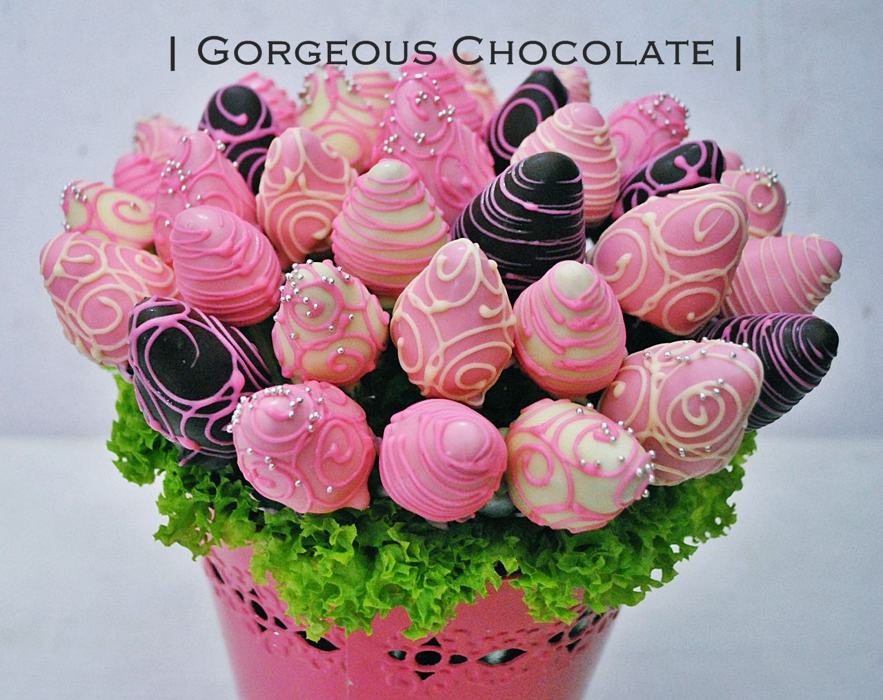 My Gorgeous Homemade Chocolate Dipped Strawberry Bouquet In Vase