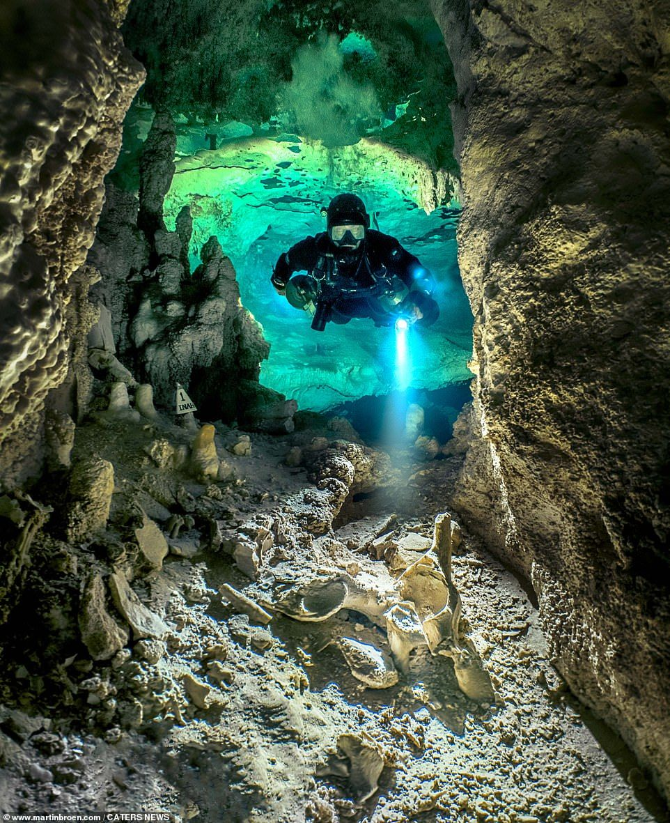 Scuba diver photographs breathtaking labyrinth of underwater caves