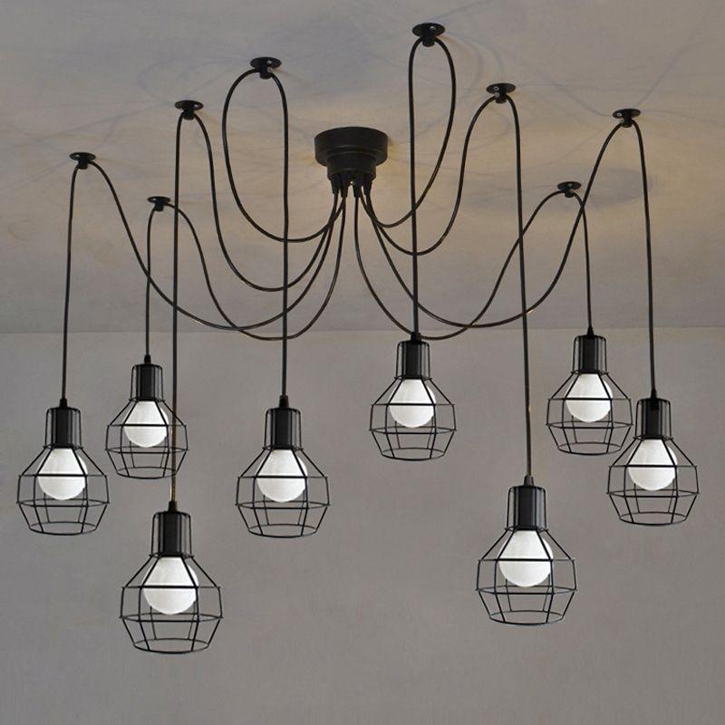 Pas Cher Art Spider Plafond Lampe Luminaire Moderne Nordique