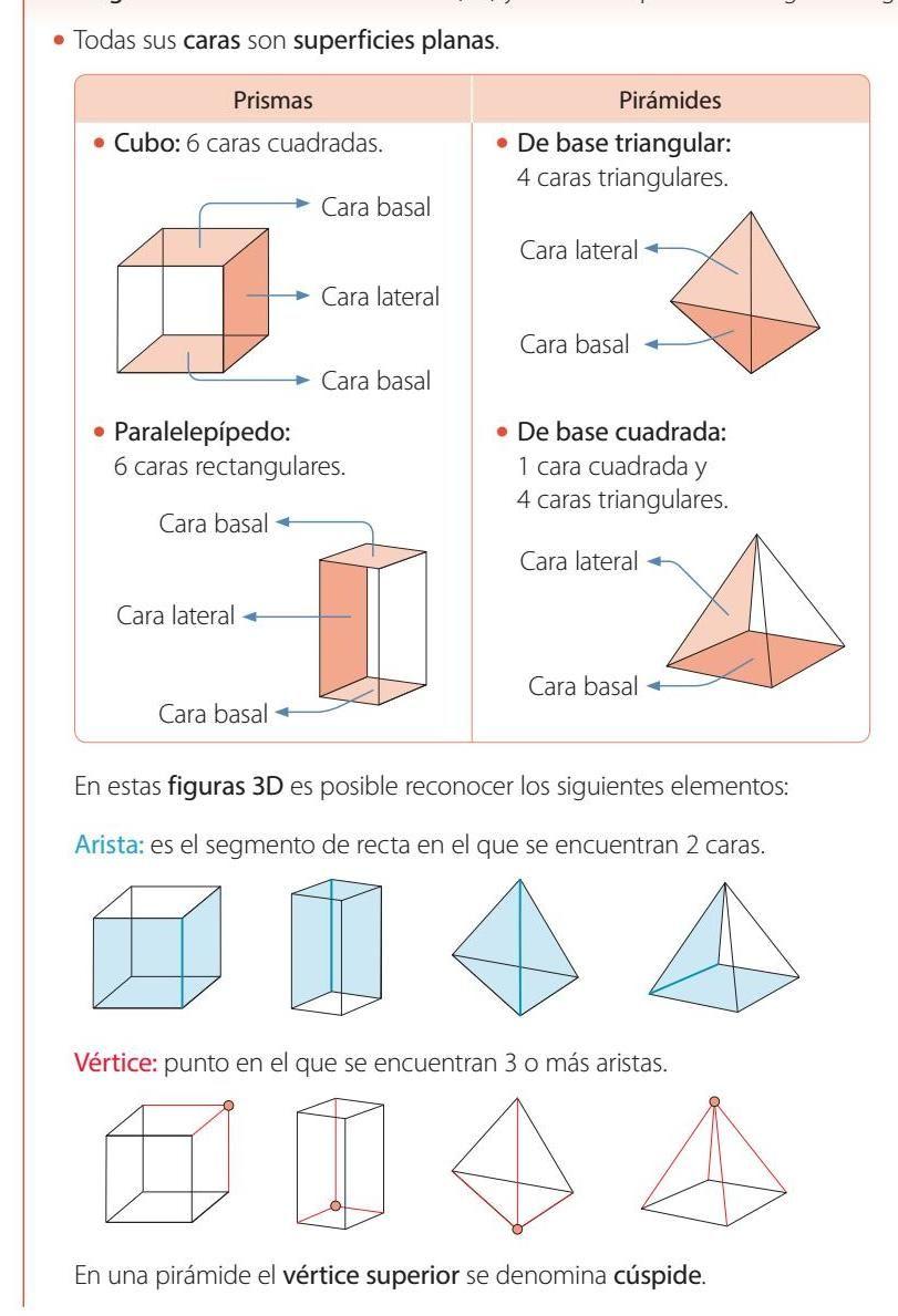 Matemática 3º Básico Texto Del Estudiante Actividades De Geometría Prismas Y Piramides Angulos Matematicas
