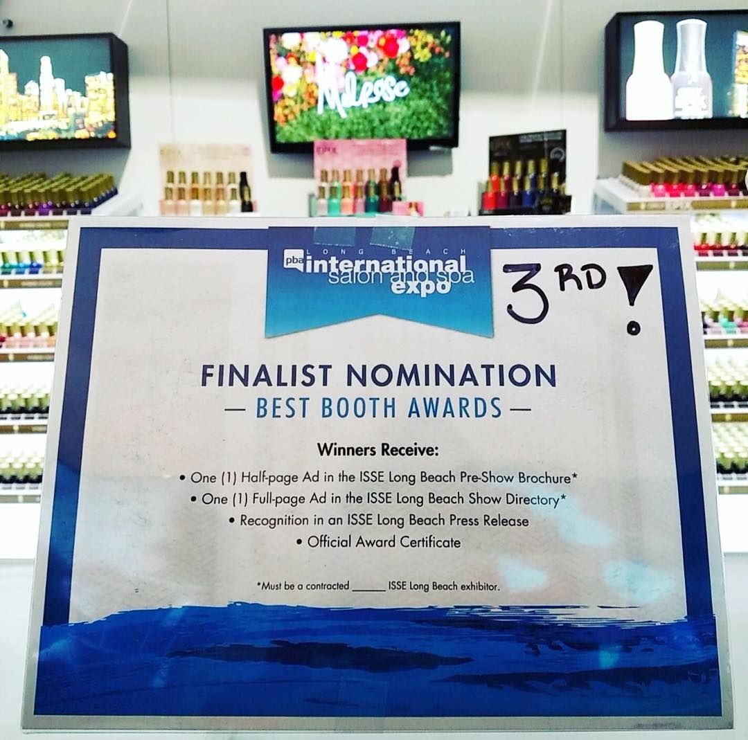 We won 3rd best booth at ISSE Long Beach! Come see what it's all about! #ORLY #1556 #BESTBOOTH