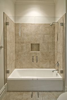 Modern Bath And Shower Combo Google Search Tub Remodel