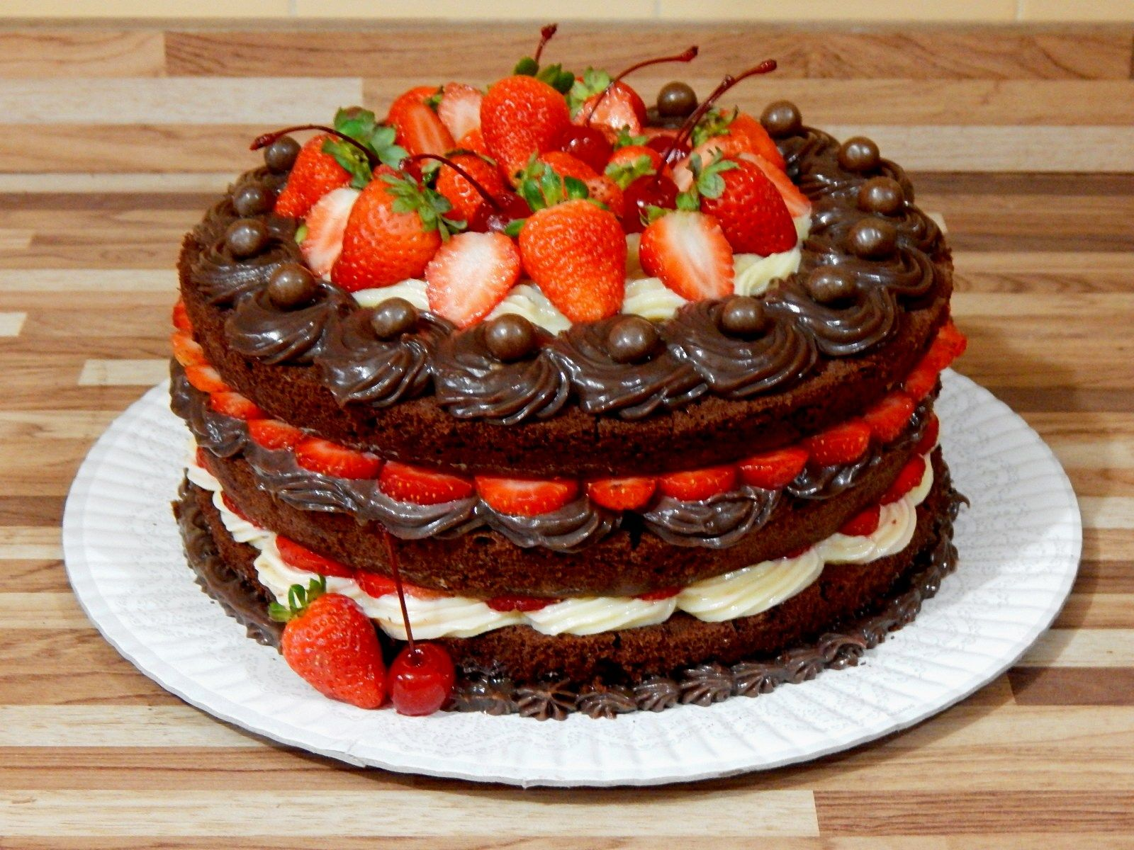 Receita Naked Cake de Brownie. Espetacularmente Delicioso!