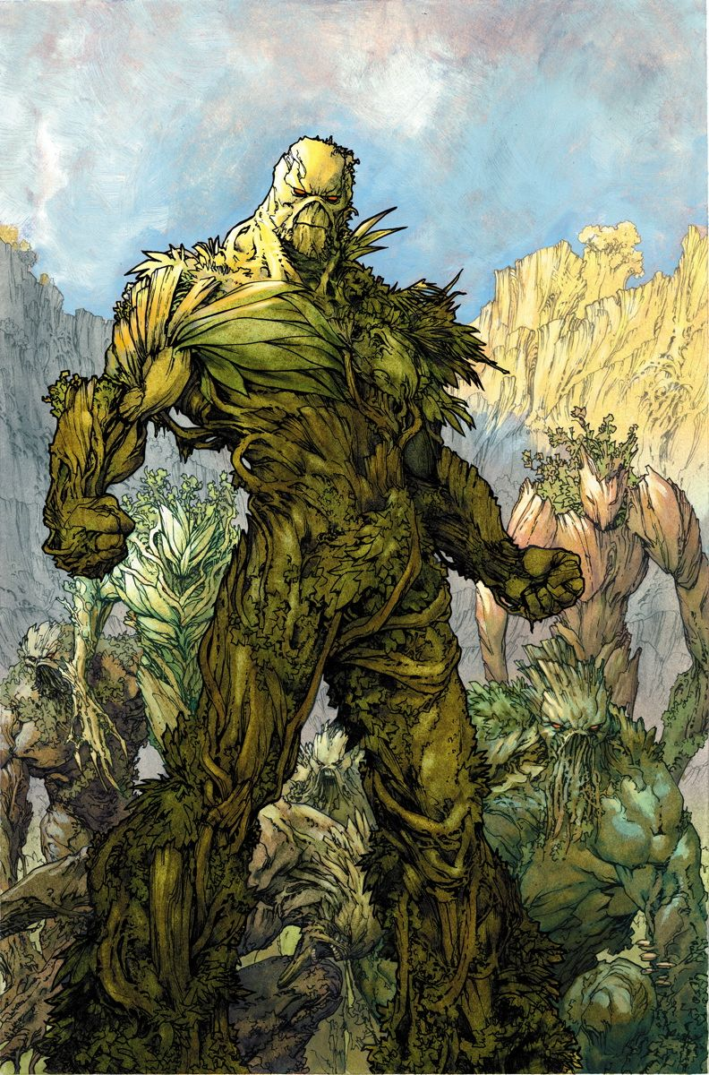SWAMP THING #25  Written by CHARLES SOULE  Art and cover by JESUS SAIZ  On sale NOVEMBER 6 • 32 pg, FC, $2.99 US • RATED T+  The evolution of Swamp Thing that began in SWAMP THING ANNUAL #2 is complete! But is it enough to defeat Seeder, who is so much more than he seems? Plus: A twist ending that will reshape Swamp Thing's world! #swampthing