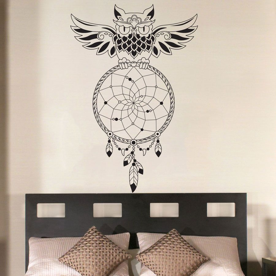 Dream Catcher Bedroom Owl Wall Decal Art Decor Sticker Vinyl Mural Wall  Stickers Home Decor Bedroom