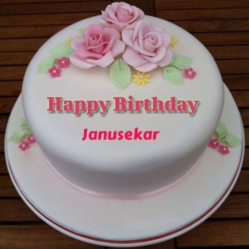 Excellent Happy Birthday Floral Round Cake With Name