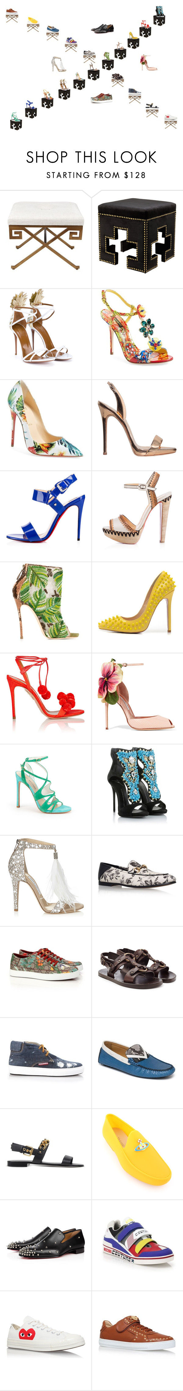 """Summer Shoes - Man vs Woman"" by studiodinteriors on Polyvore featuring Eichholtz, Aquazzura, Dolce&Gabbana, Christian Louboutin, Giuseppe Zanotti, Dsquared2, Posh Girl, Brian Atwood, Stuart Weitzman and Jimmy Choo"