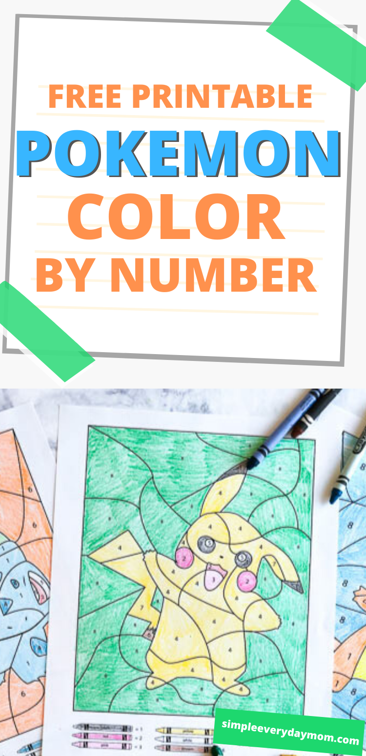 3 Free Pokemon Color By Number Printable Worksheets In 2020 Color By Number Printable Fun Summer Activities Pokemon [ 1550 x 750 Pixel ]