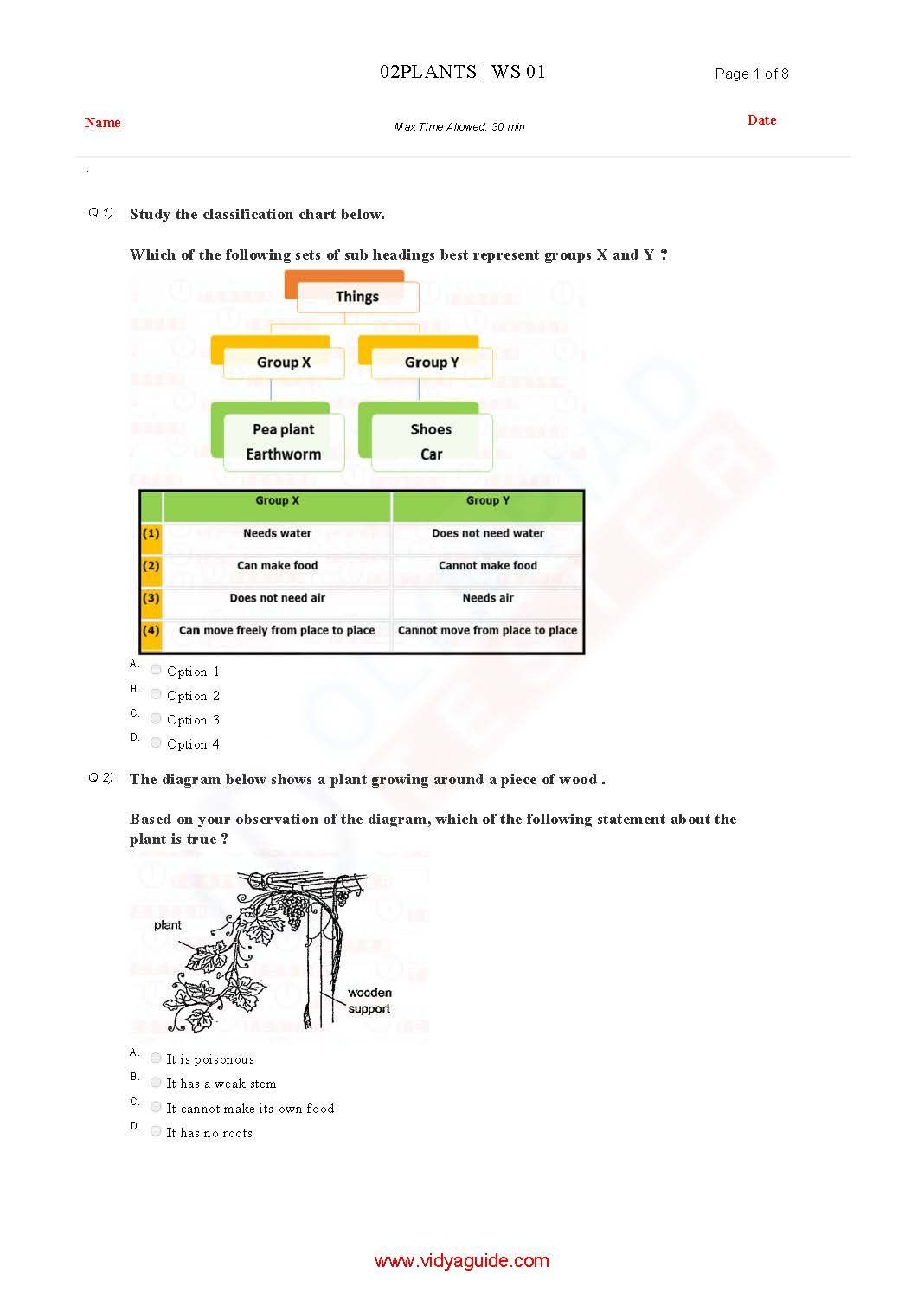 Download Grade 2 Science Olympiad Sample Papers As Pdf Worksheets