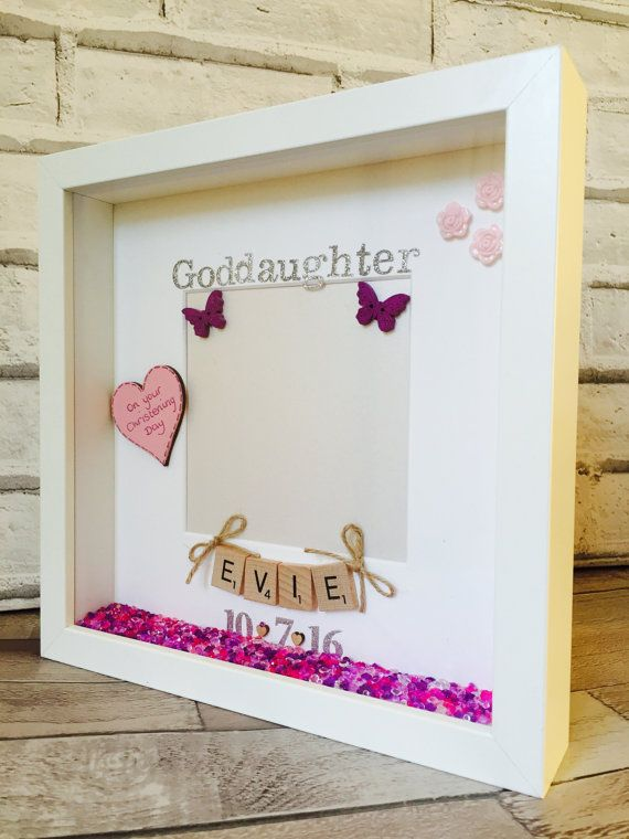 Goddaughter Gift, Goddaughter Frame Personalised Godmother Godson ...