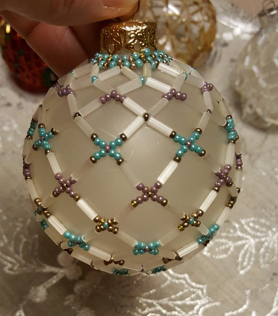 Yyz Image Only Beaded Christmas Decorations Beaded Ornaments Diy Beaded Christmas Ornaments