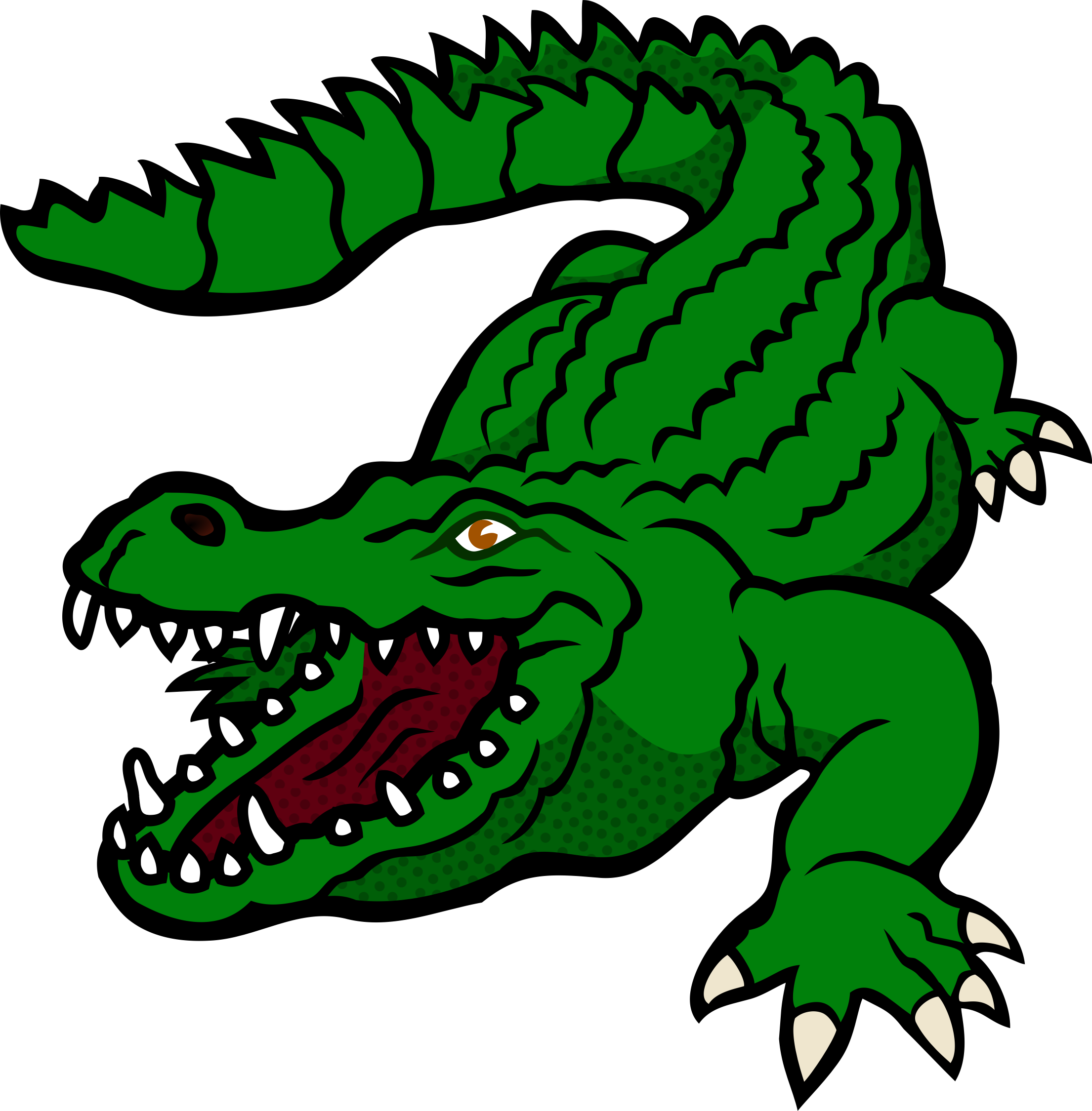Clipart Crocodile Coloured Swim Team Pinterest