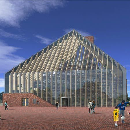 Book Mountain Library Spijkenisse South Holland Building