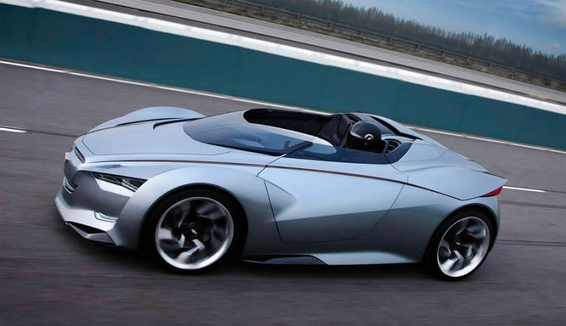 """Another funky concept from Chevrolet: the Miray """"mixes fast jet fighter styling with a frugal hybrid powerplant"""""""