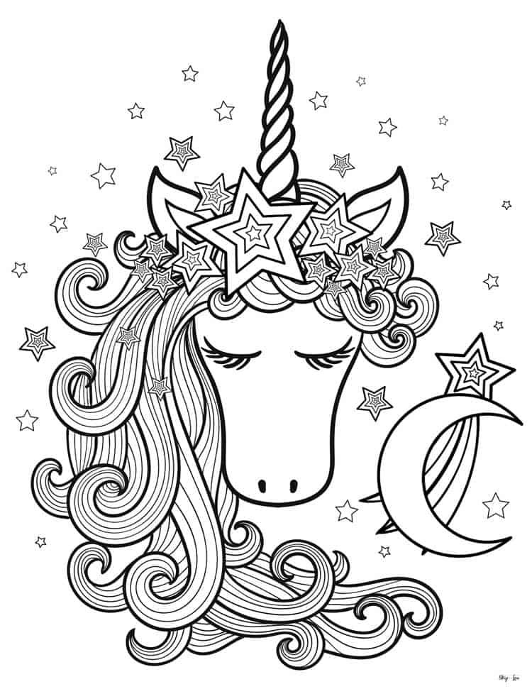 Magical Unicorn Coloring Pages Www Robertdee Org