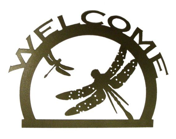 Dragonfly Metal Wall Art welcome sign with dragonfly metal wall art (i) | dragonflies