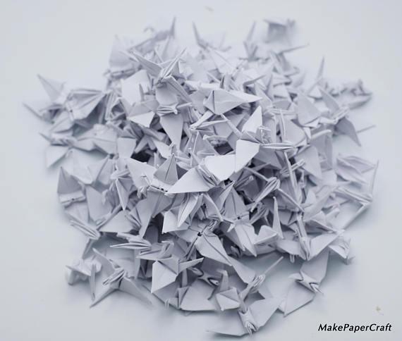 backdrop wedding 1000 Origami paper cranes 1.5 Ivory Handmade folded Origami paper Crane Christmas for Wedding Gift Decoration