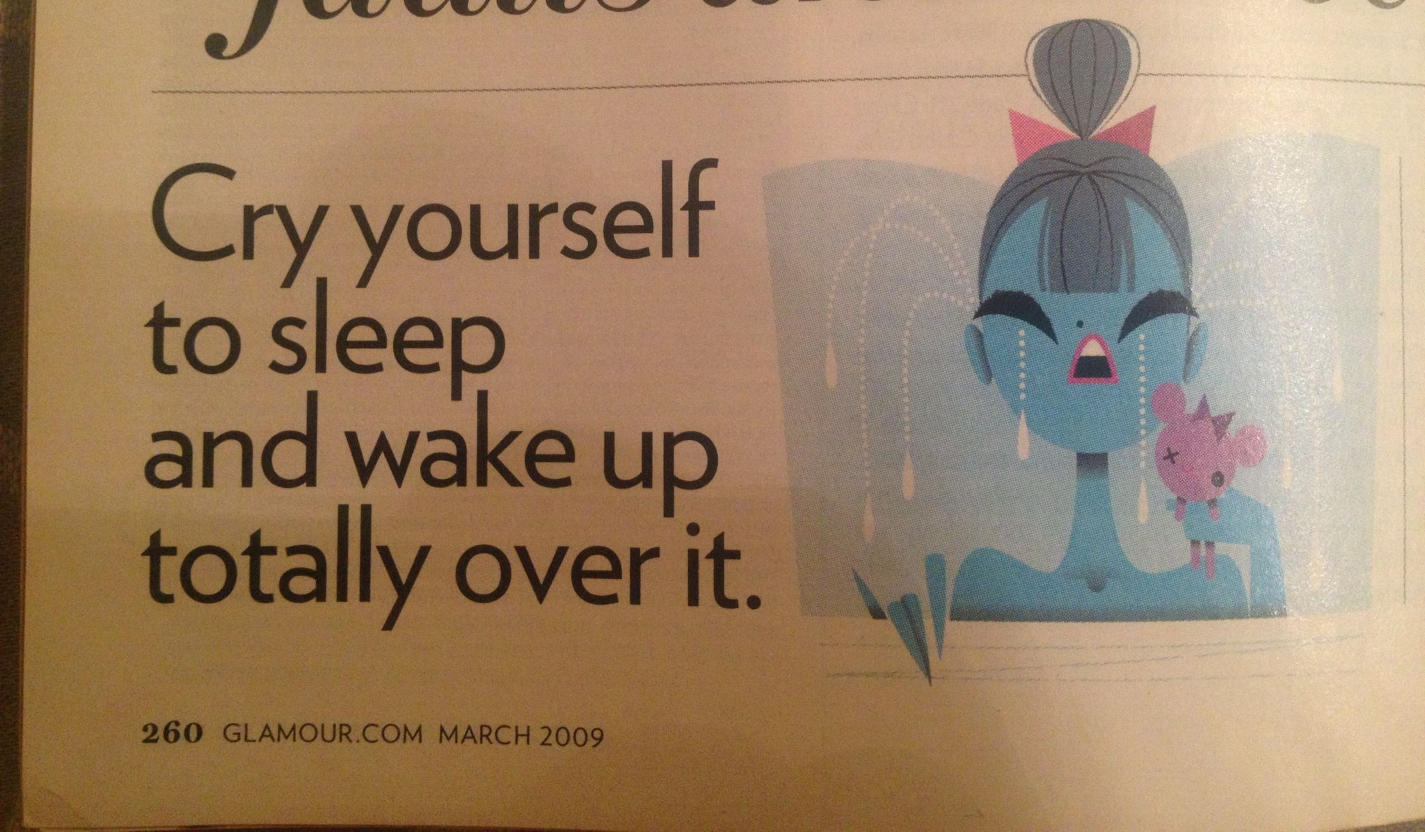 Cry Yourself To Sleep To Do List Words Crying