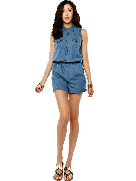 1e0b7cb2e888 DAILY DENIM ROMPER  DENIM  ROMPER