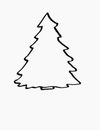 christmas tree outline drawing clip 20art 20christmas 20tree twc rh pinterest com christmas tree with presents clipart black and white christmas tree clipart black and white outline