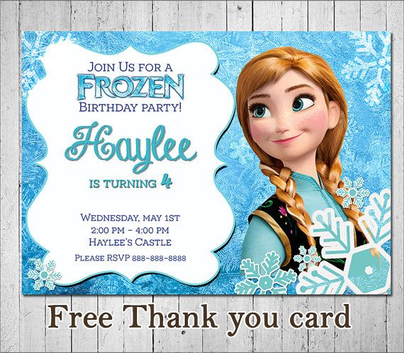 Thank you for stopping by! This listing is for the creation and - invitation birthday frozen