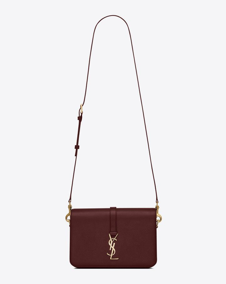 NEW YSL SAINT LAURENT UNIVERSITE MONOGRAM LEATHER BURGUNDY CROSS BODY BAG   YSLYvesSaintLaurent  ShoulderBag 042ea4af43541